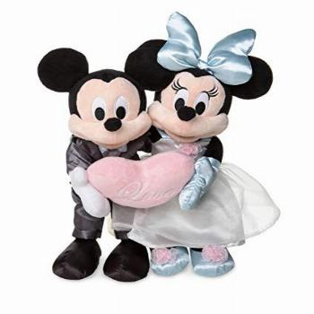Disney Parks Mickey and Minnie Mouse Wedding Love Plush Doll