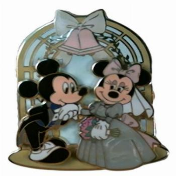 Disney Pin - Mickey Mouse and Minnie Mouse - Wedding