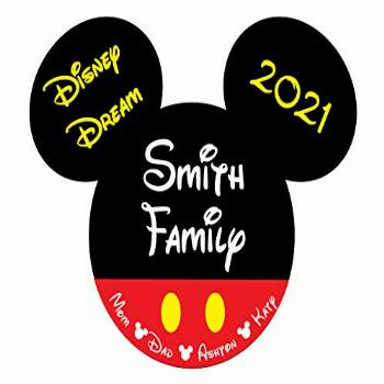 Large Classic Red Shorts Mouse Head Family Magnet | Disney