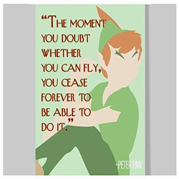 Peter Pan Quote Poster – 16 x 20 – Motivational –
