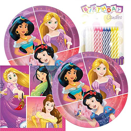 """Princess Birthday Party Pack – Includes 7"""" Paper Plates"""